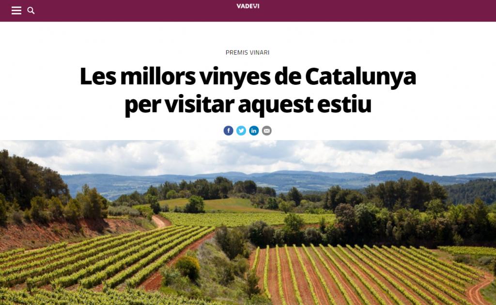 Les millors vinyes de Catalunya - Premis Vinari